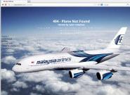 """马航官网遭攻击:域名系统被入侵 显示""""飞机无法找到"""""""