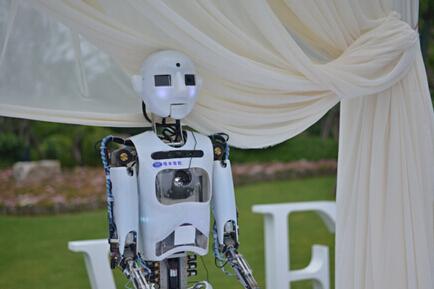 又一场机器人婚礼举办 真的是未来趋势吗?