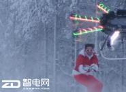 过节无聊了吧!无人机拖滑雪板看城里人都怎么玩?