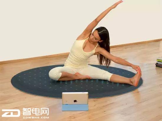 一款能互动的瑜珈垫 在家健身变的更有趣了