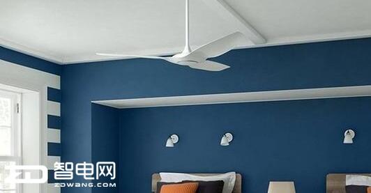 自带LED灯的智能吊扇 多档送风模式自动关闭