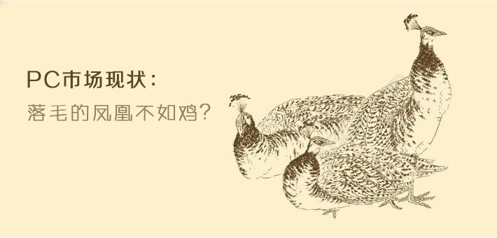 PC市场现状:落毛的凤凰不如鸡?