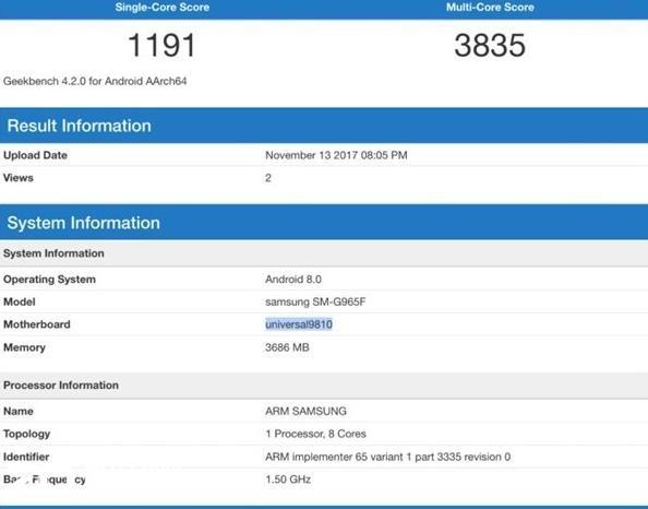 不符合常理 Exynos 9810版三星S9跑分略低