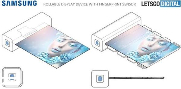 下一代新专利 三星研发带指纹的卷曲屏