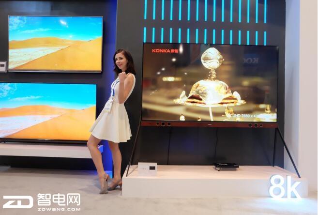 """康佳""""真8K""""电视亮相CES 2018,电视行业迎来新风向标"""