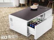 内置冰箱的多功能智能茶几Sobro