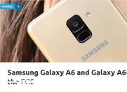 三星手机Galaxy A6现身   将于近期发布?