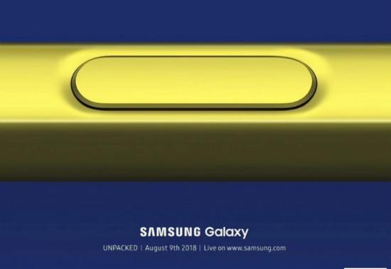 三星Note9将于8月9日震撼发布 S Pen笔暗藏玄机!