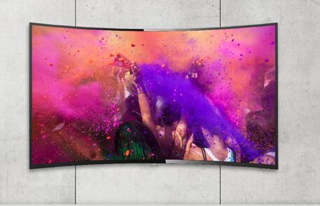 中小型客厅 55英寸HDR曲面4K电视最适合