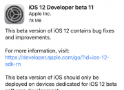 苹果推送iOS 12第十一个开发者测试版 正式版指日可待