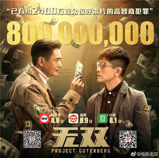 《无双》官方宣布票房破8亿 神舟追剧观影无懈可击