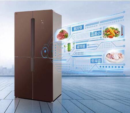 TCL 490升变频风冷十字对开门冰箱 满足中式家庭储存需求