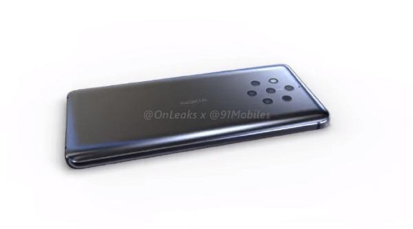 Nokia 9再曝渲染图 后置摄像头组亮了