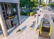 """1辆无人巴士+1群机器狗,未来最后一公里配送就靠一群""""狗""""了?"""