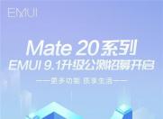 华为Mate 20 系列明日为公测报名用户推送EMUI9.1版本!