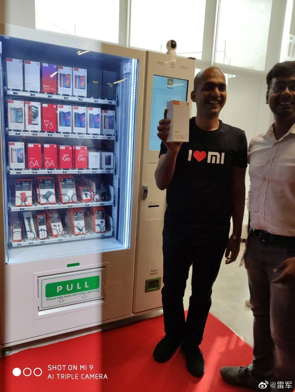 红米新旗舰命名出难题;印度惊现小米手机自动贩卖机