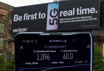 美国运营商Verizon的5G网络已经达到了千兆位下载速度