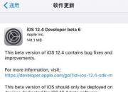 修复BUG为主!苹果今日发布iOS 12.4开发者预览版Beta 6