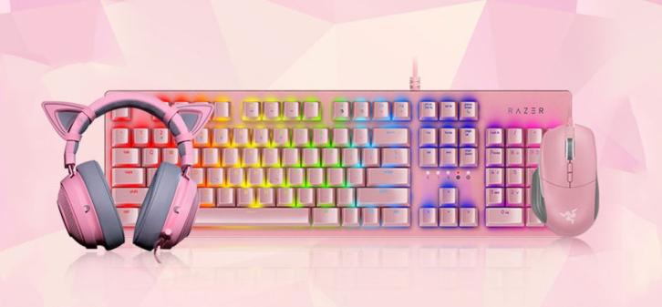 粉粉的少女心 鼠标耳机键盘等 是你的菜吗?