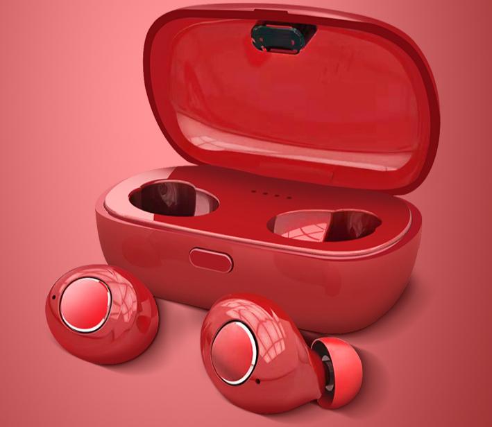 爱运动爱生活 有红色真无线蓝牙耳机相伴