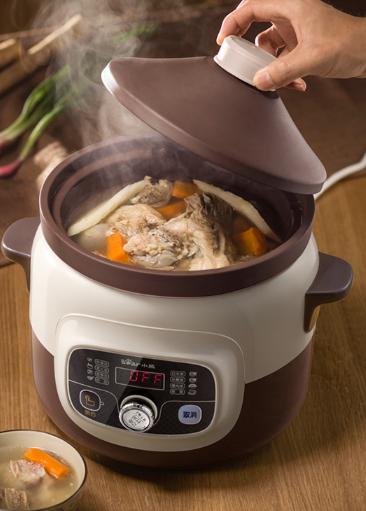 小熊电器满额晒单送豪礼  小熊紫砂锅炖煮鲜浓汤 汤香远飘浓而不腻