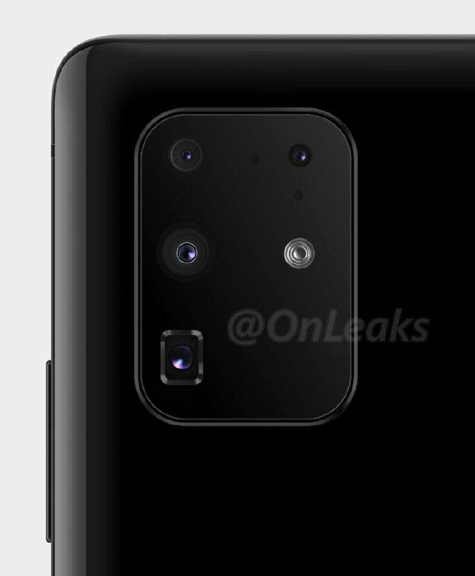 华为P40 Pro渲染图曝光 双打孔四曲面屏+后置五摄
