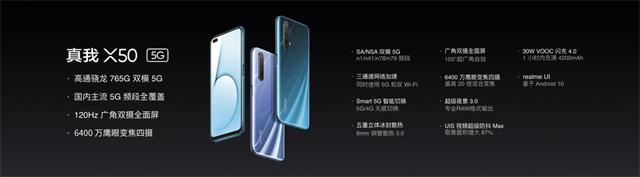realme真我X50发布  杨紫核心代言 2020年全面普及5G