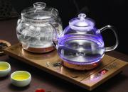 涌泉式底部上水   电热水壶烧水茶具套装