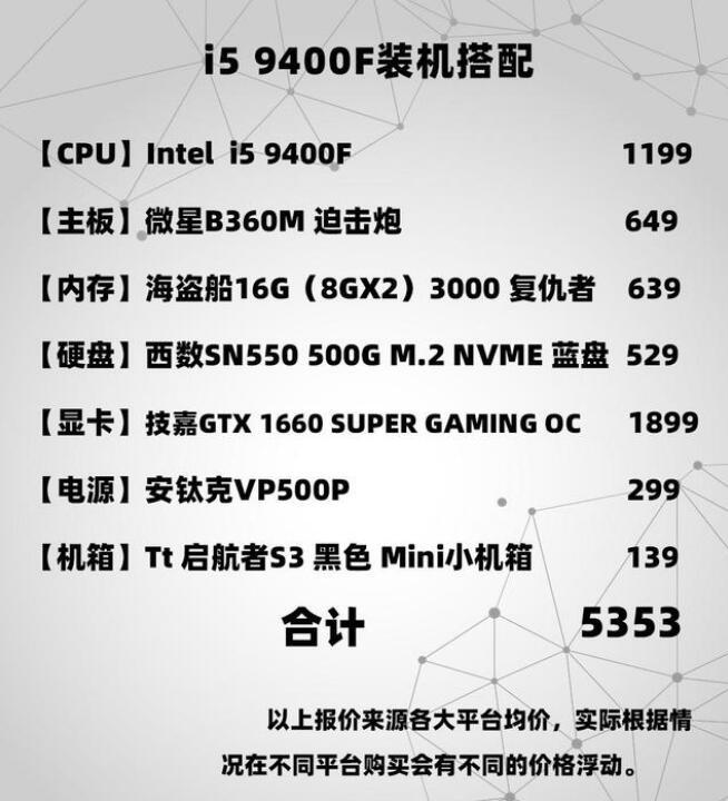 英特尔酷睿i5 9400F万金油配置推荐 适合吃鸡 守望先锋