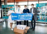 海尔俄罗斯冰箱工厂为当地捐赠防疫物资