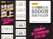 双11开门红 realme真我成京东安卓手机品牌销量TOP4
