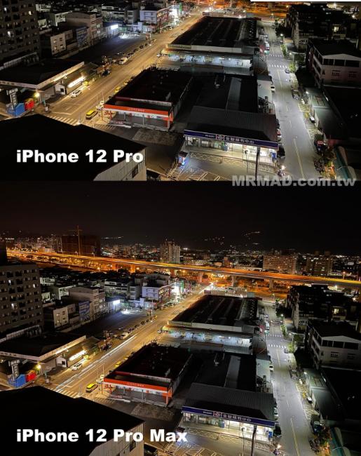 浅谈iPhone 12 Pro Max vs. iPhone 12 Pro 夜拍比较