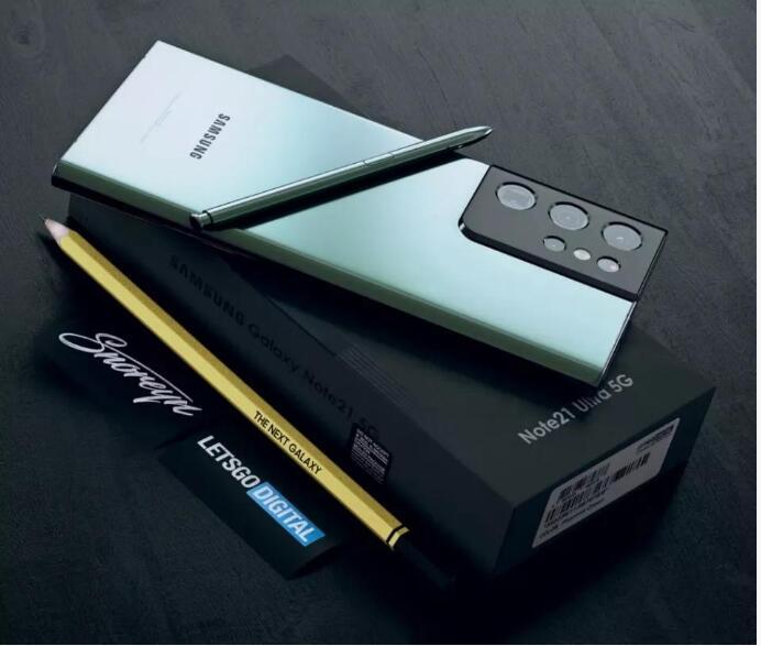 三星Galaxy Note 21  Ultra  渲染图曝光