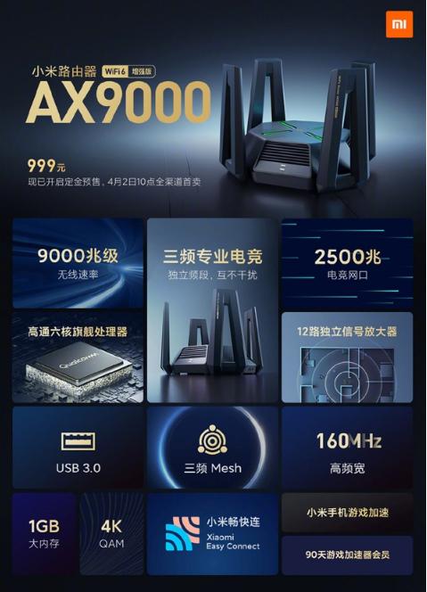 上半场小米发布会 小米手表6和路由AX9000