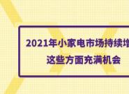 2021年小家电市场持续增长,这些方面充满机会