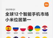 全球12个国家和地区智能手机市场小米排名第一